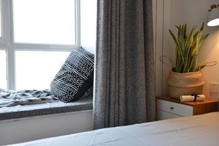89平北欧风格设计飘窗图片