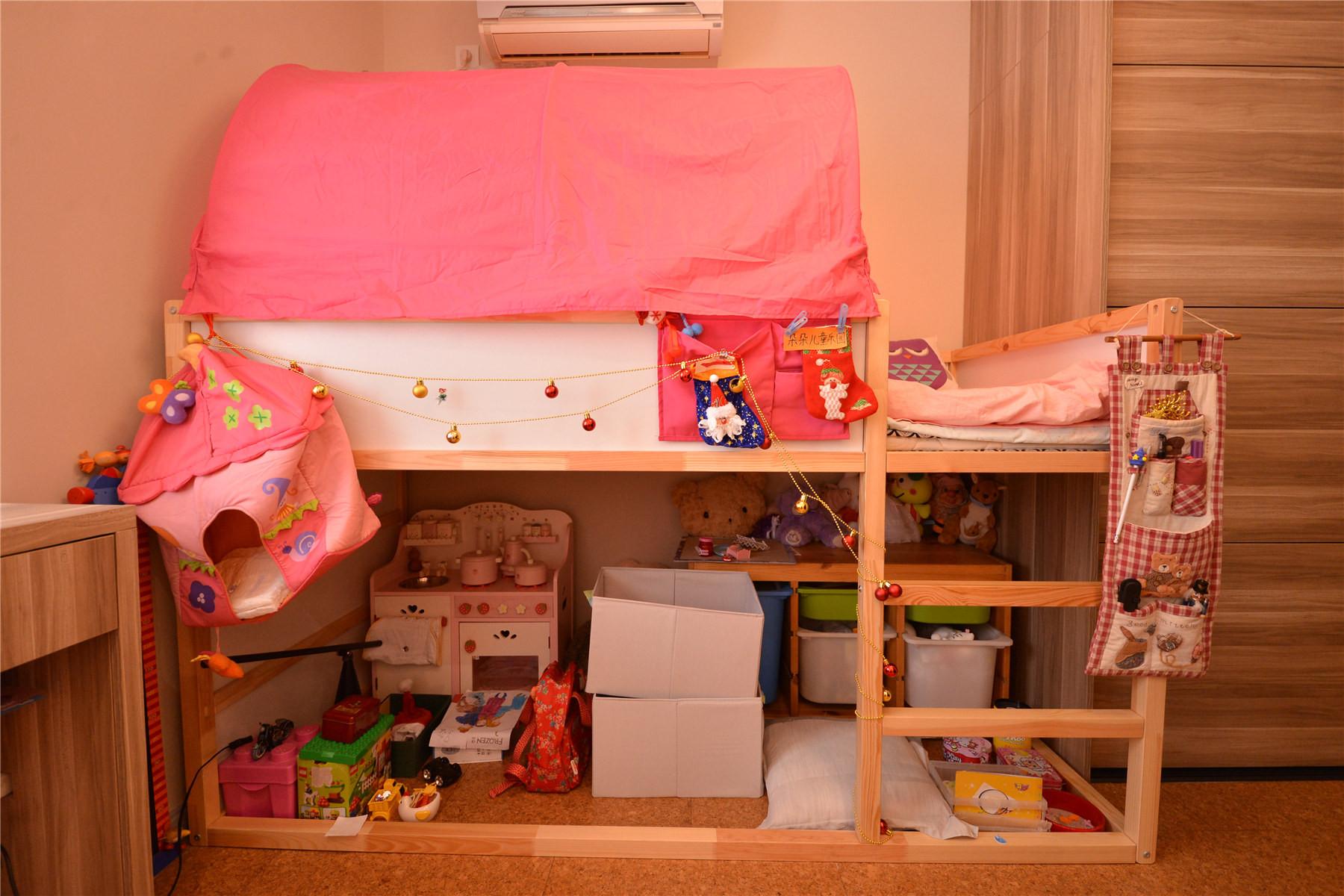 110㎡北欧风格装修儿童床图片
