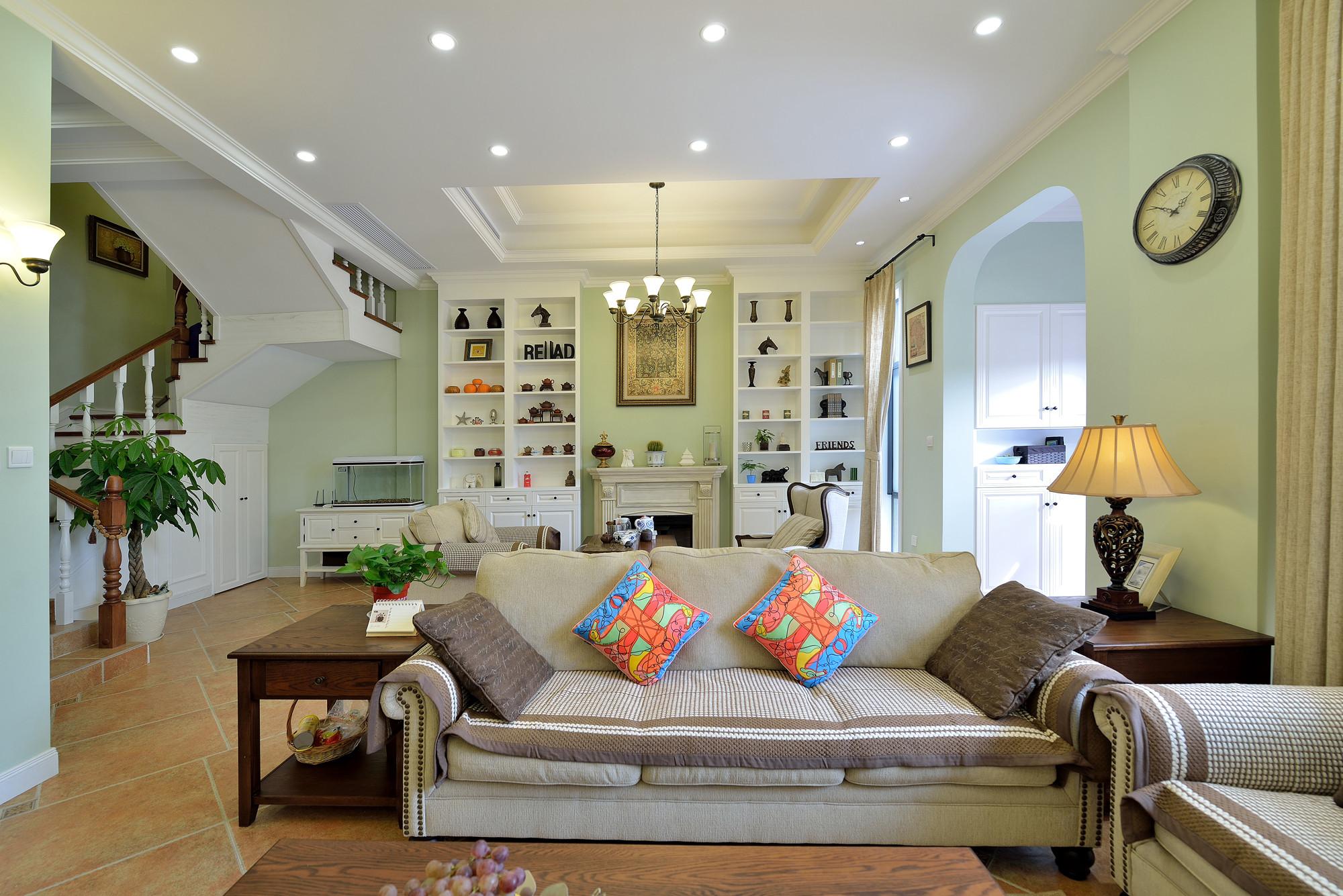 简美复式装修沙发图片