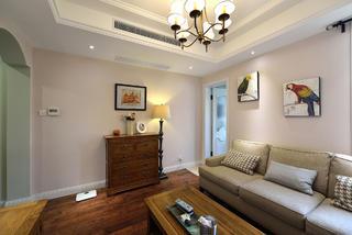 简美复式装修沙发背景墙图片