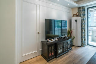 美式三居装修电视柜图片