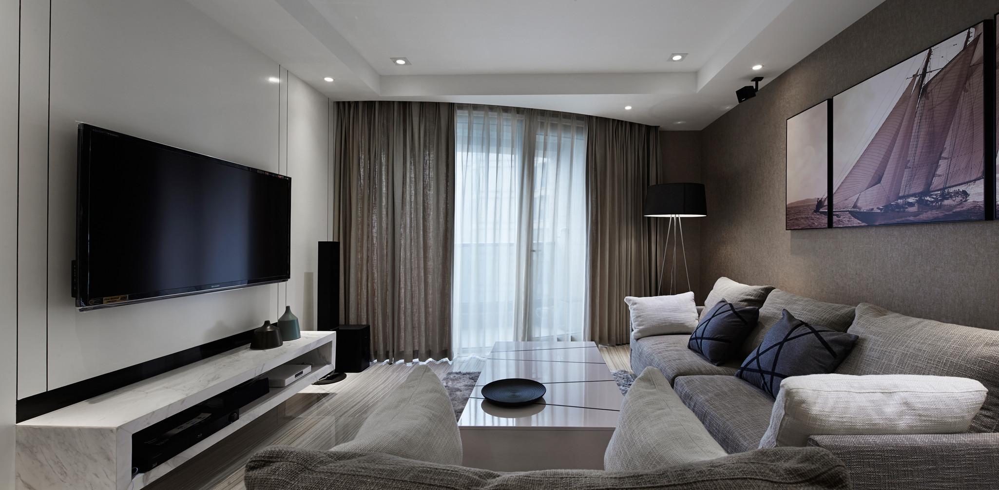 89平现代简约风格装修客厅效果图