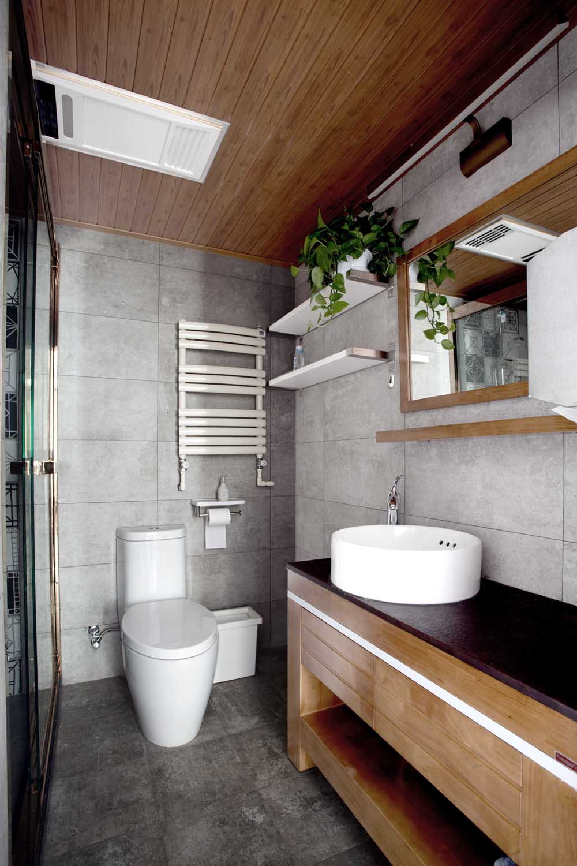 70平简美二居装修卫生间设计图