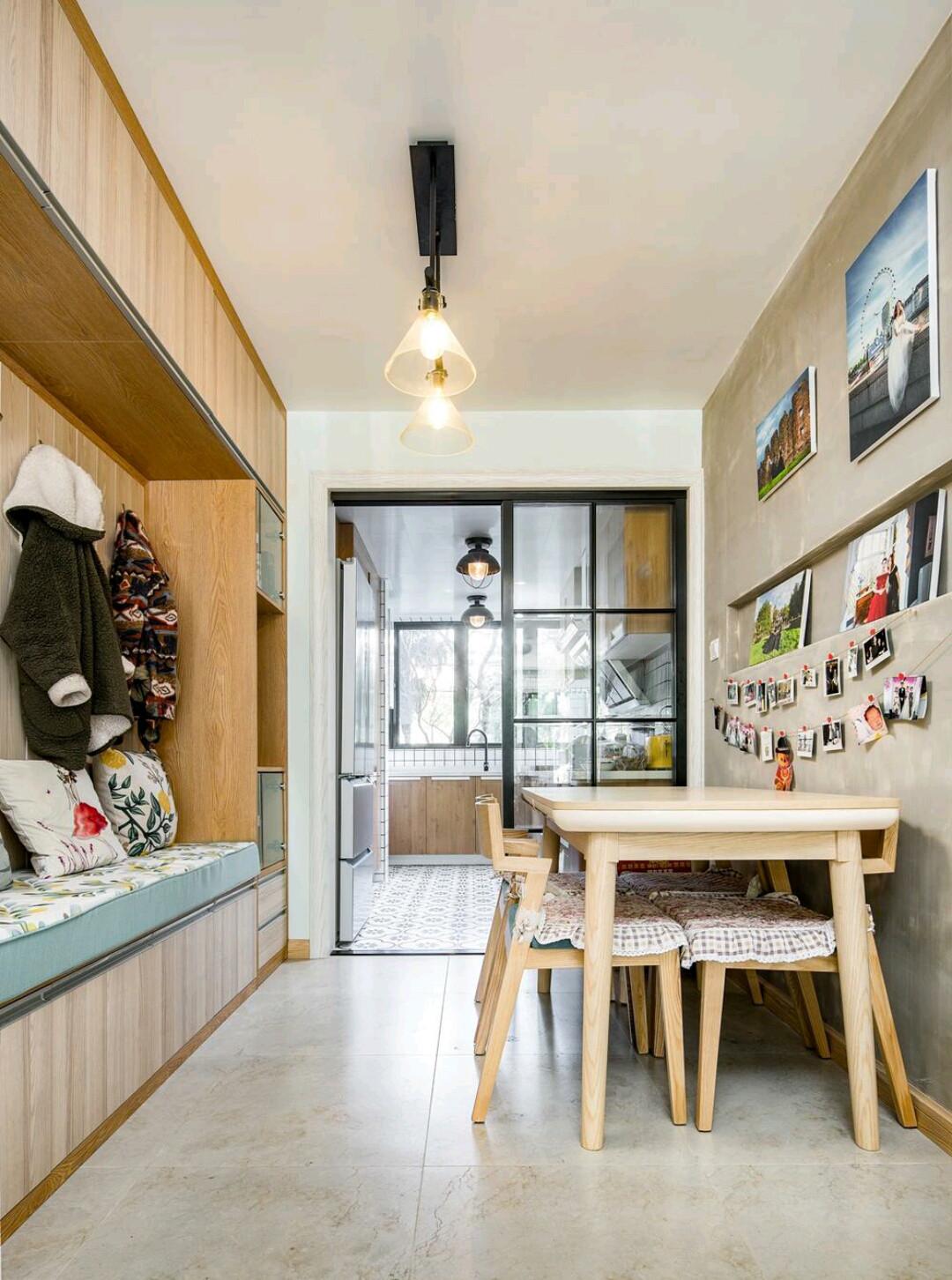 北欧二居装修餐边柜图片