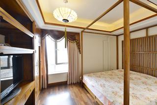 新中式三居装修老人房设计图