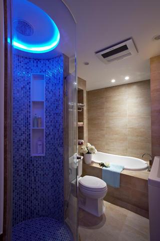 简美三居装修卫生间设计图
