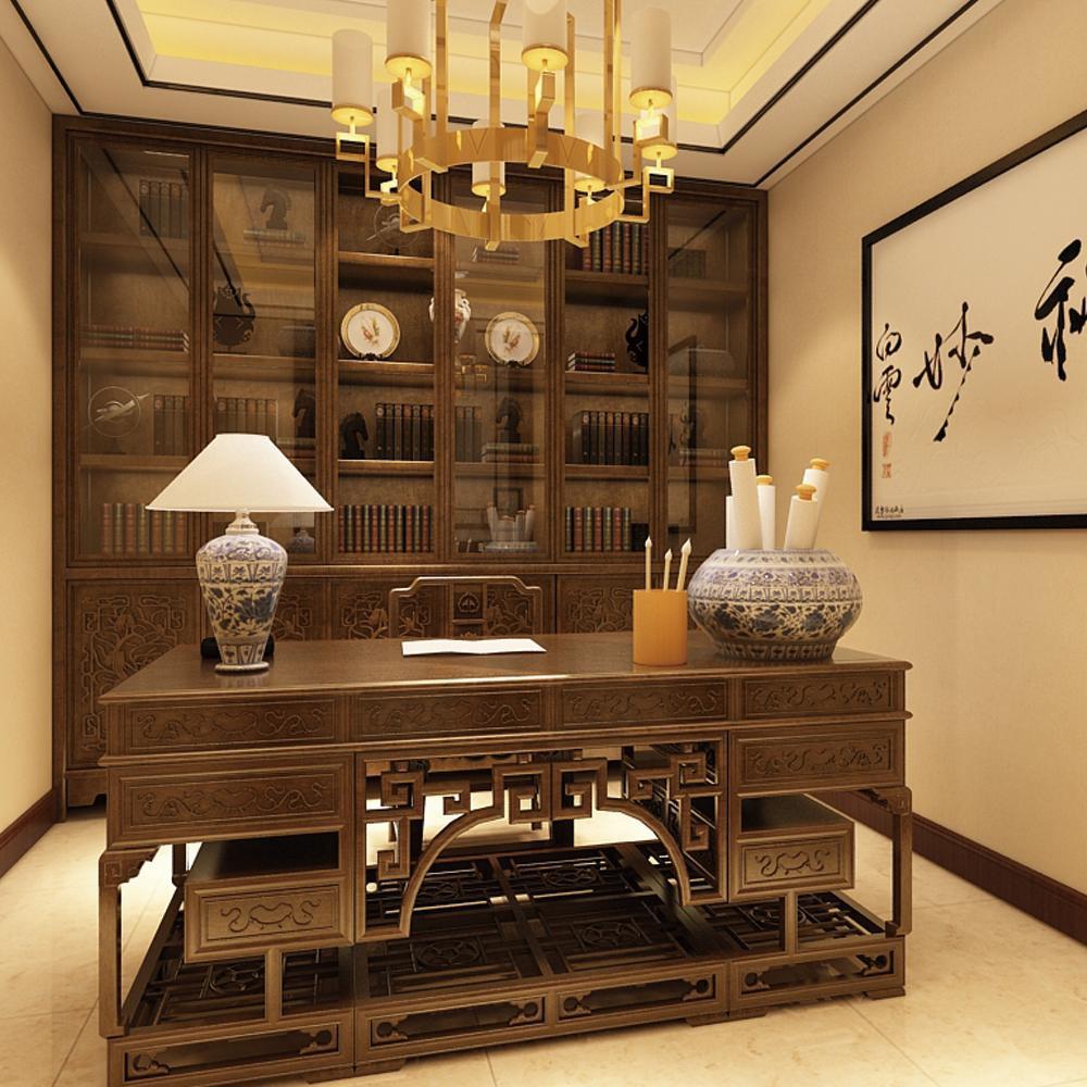大户型中式风格家书房设计