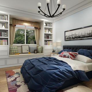 简美三居装修卧室设计图