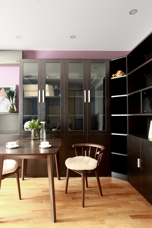 混搭二居室装修书柜图片