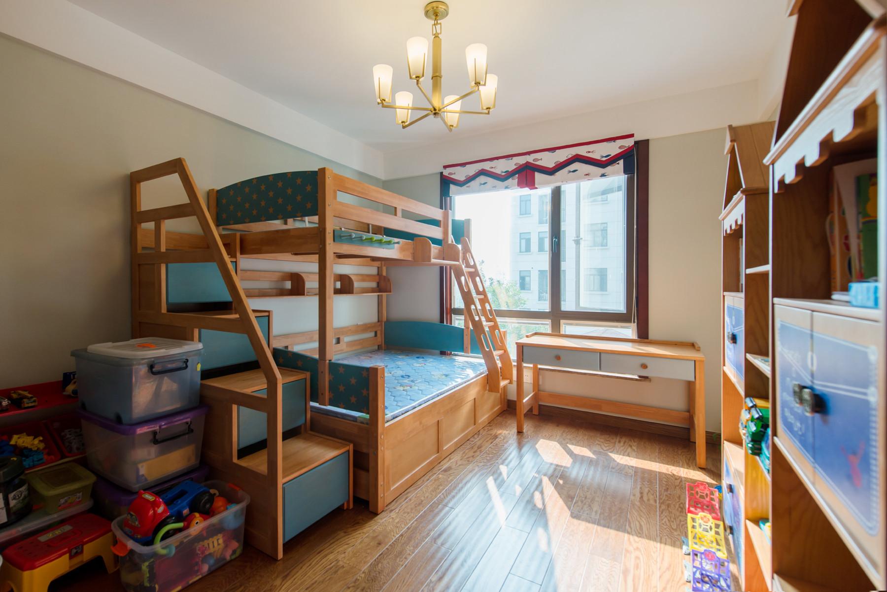 新中式别墅装修儿童房效果图
