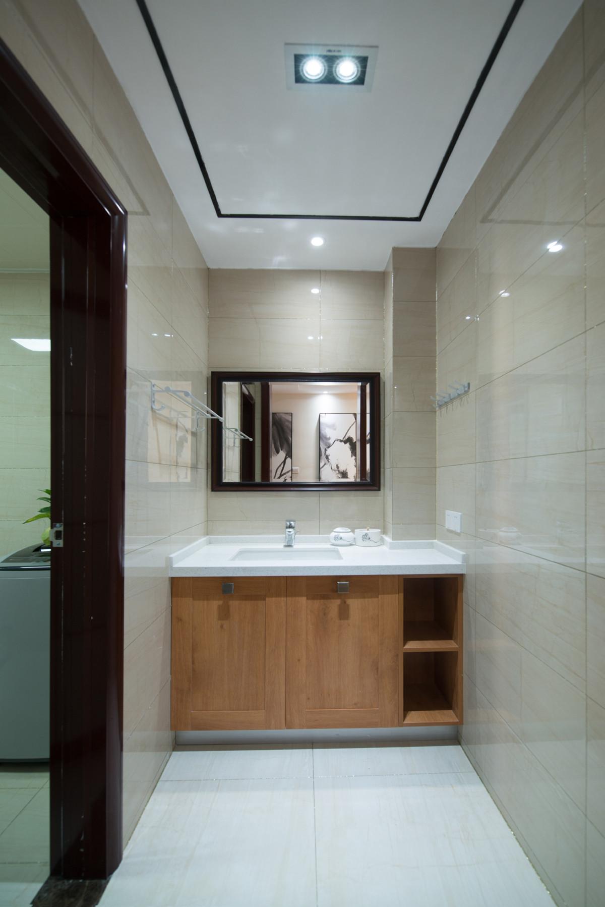 新中式别墅装修浴室柜图片