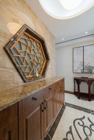 新中式别墅装修玄关设计