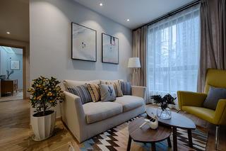 單身白領的北歐家沙發背景墻圖片