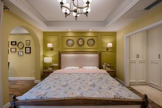 复式混搭装修床头背景墙图片