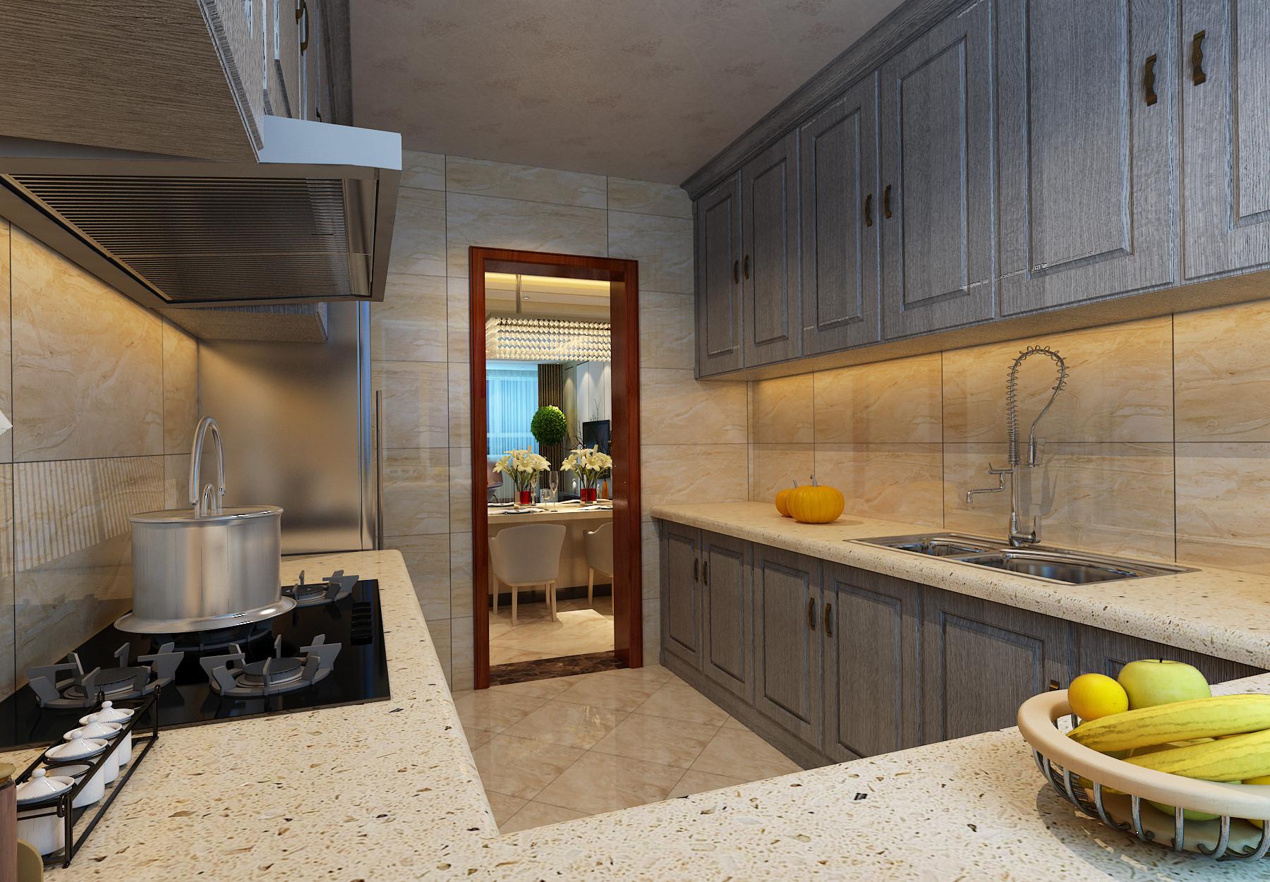 140平现代简约装修厨房设计图