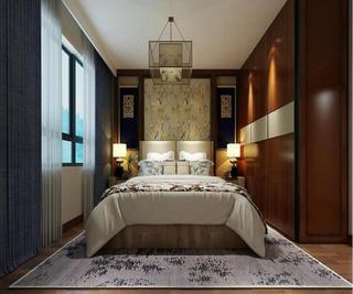 新中式四居装修客卧设计图