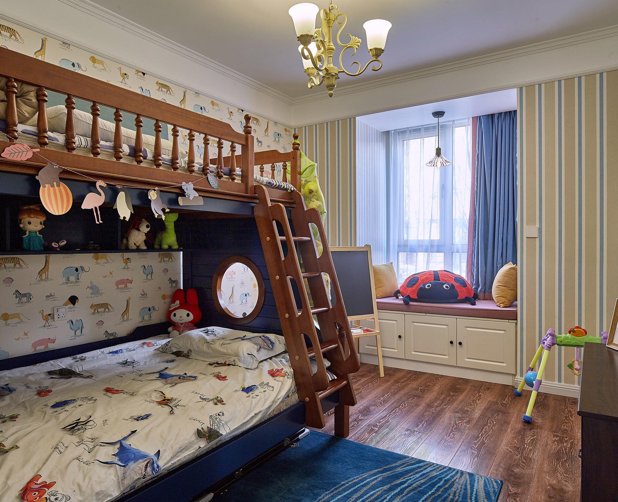 130㎡美式装修儿童房设计图