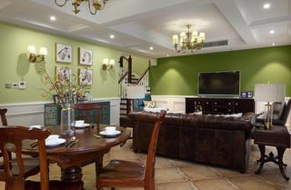 简美复式装修客餐厅效果图
