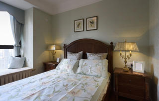 75平美式装修床头灯图片