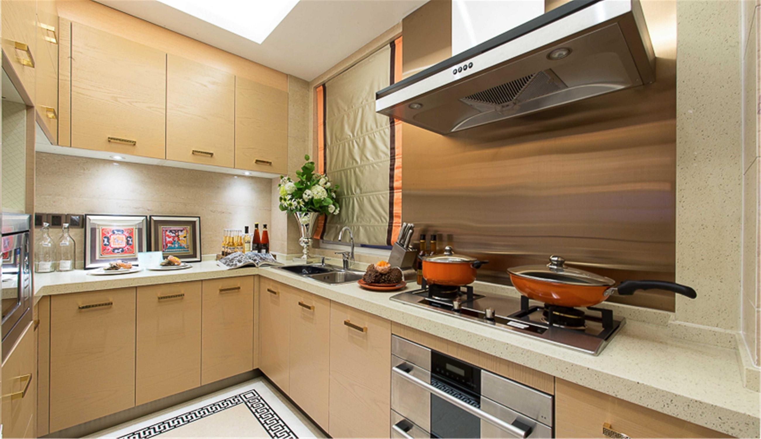 现代风格三居厨房搭配图