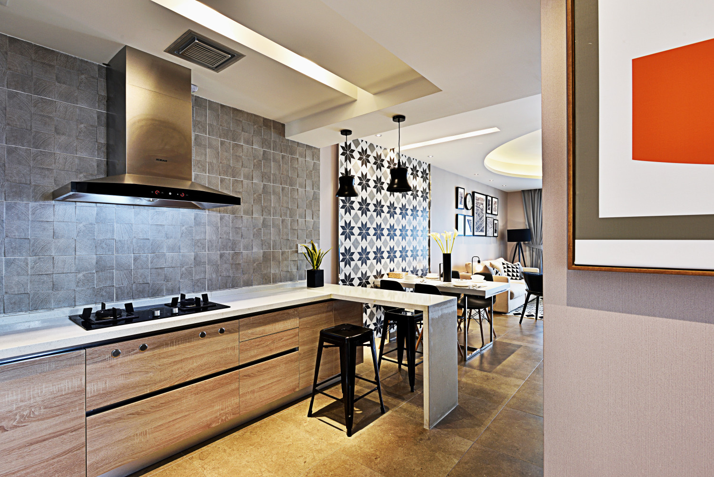 摩登现代风装修厨餐厅设计图