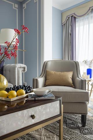 美式三居装修沙发椅图片