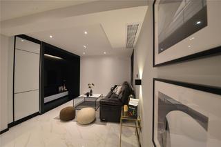 黑白简约风装修客厅效果图
