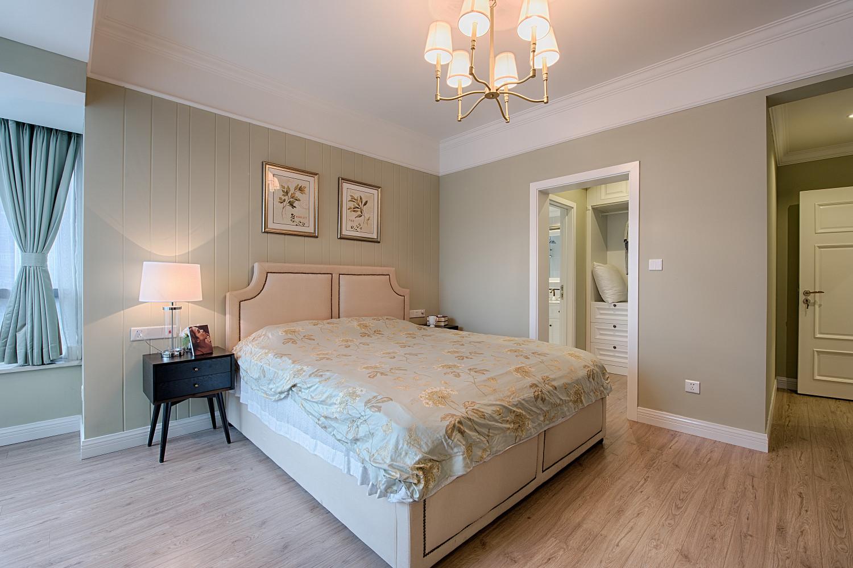 现代美式装修卧室背景墙图片