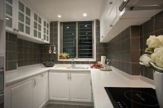 简美三居装修厨房设计图
