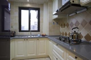105平美式二居装修厨房设计图