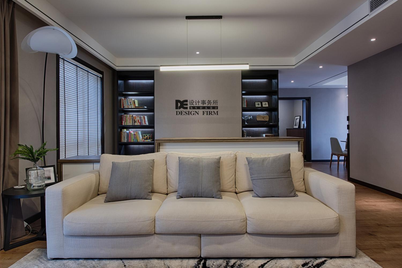 原木简约风装修沙发背景墙图片