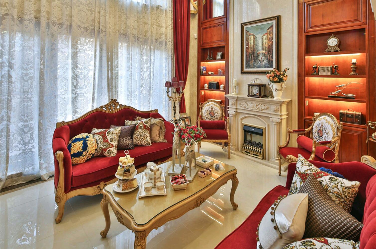 欧式别墅装修茶几图片