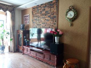 130㎡东南亚风格装修电视背景墙全景