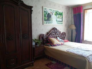 130㎡东南亚风格装修卧室布置图