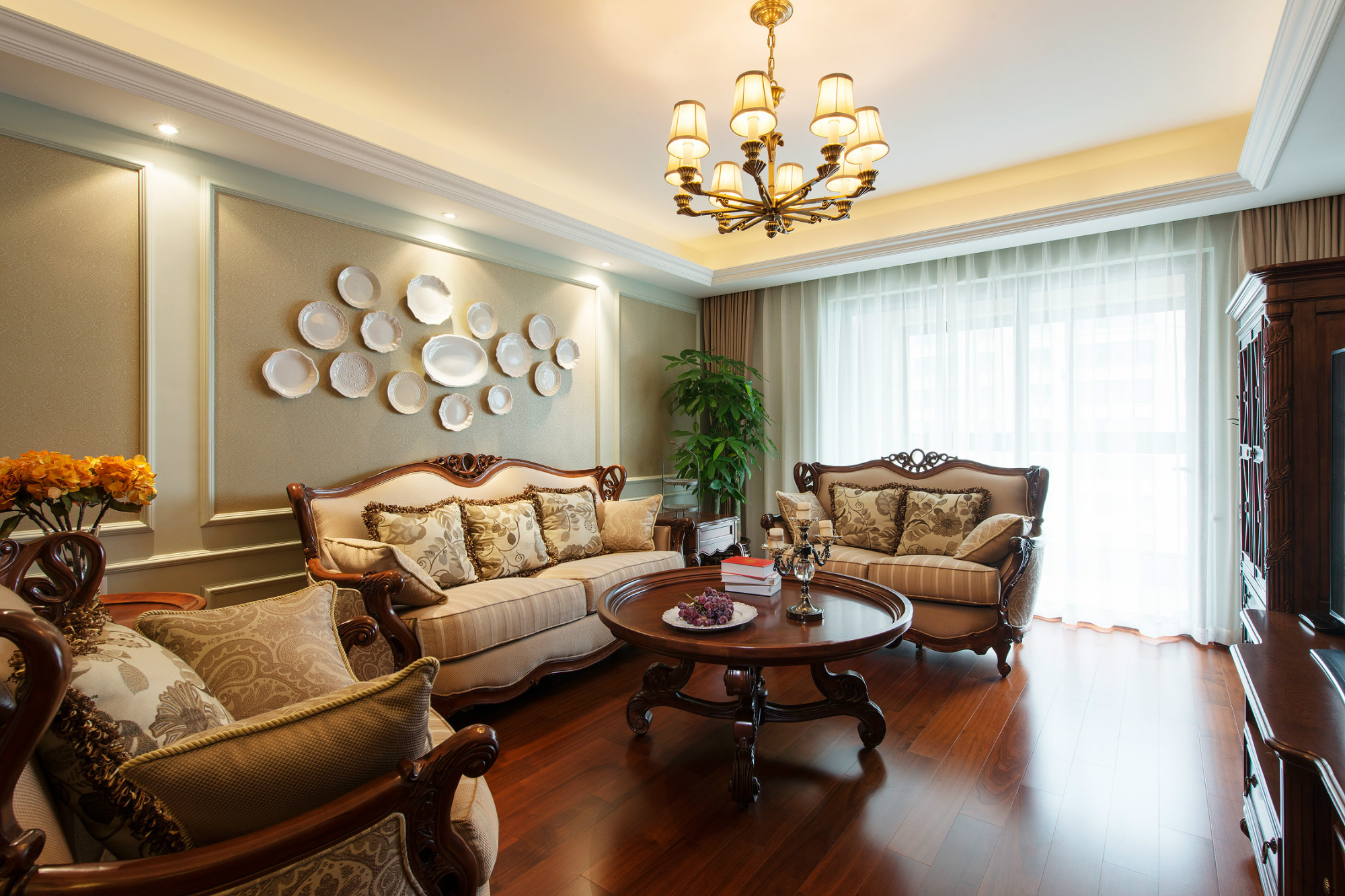 欧式四房装修客厅效果图