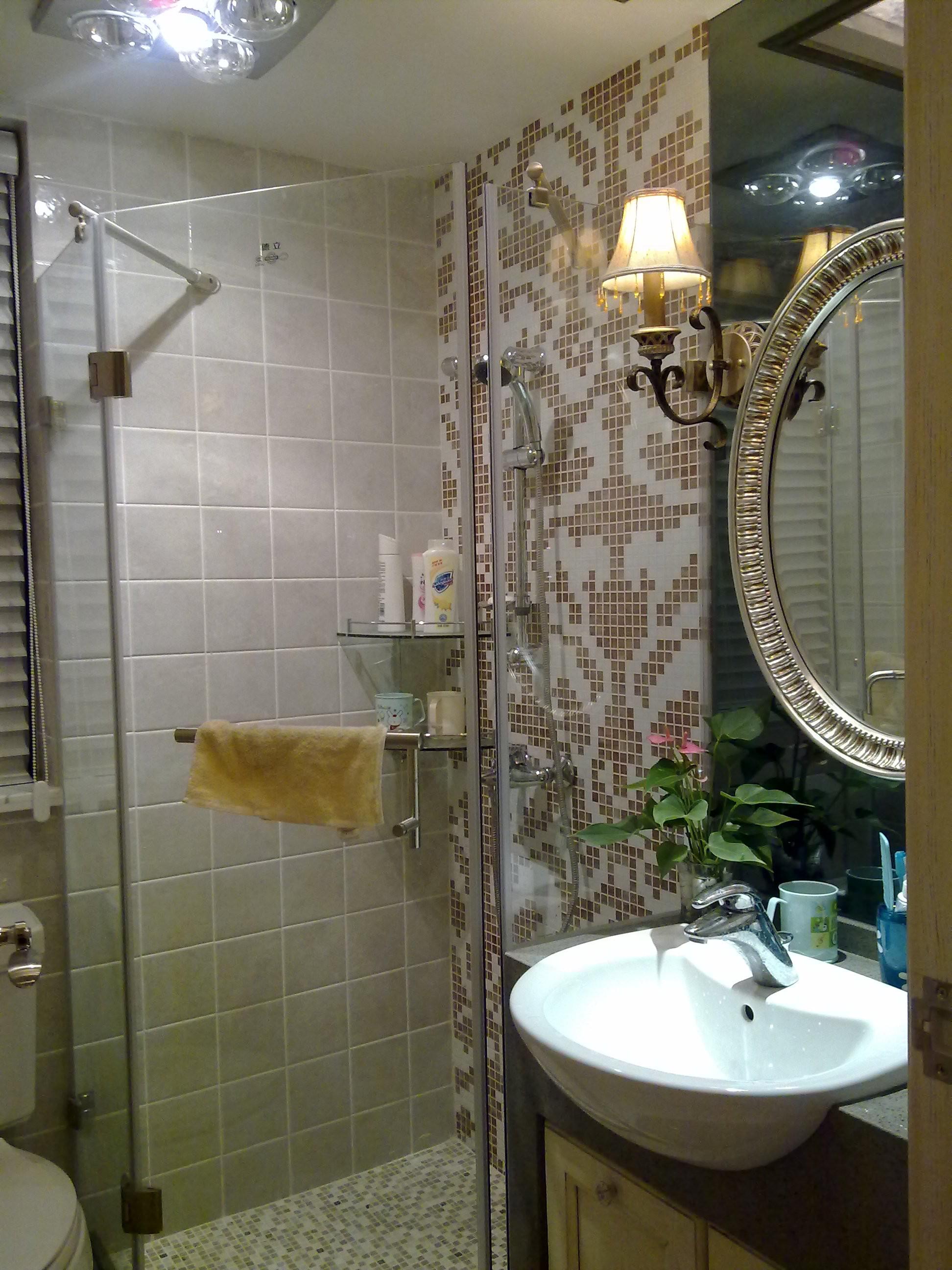 美式三居室装修卫生间实景图