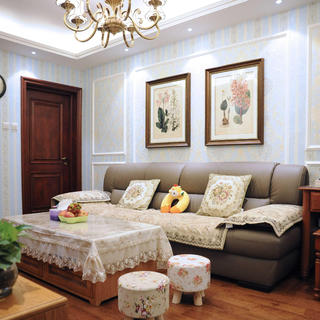 70平美式二居装修实景图