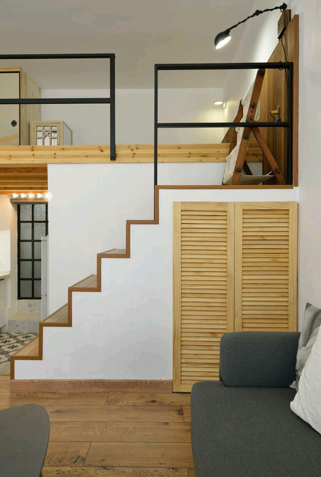 50平小户型装修楼梯柜图片
