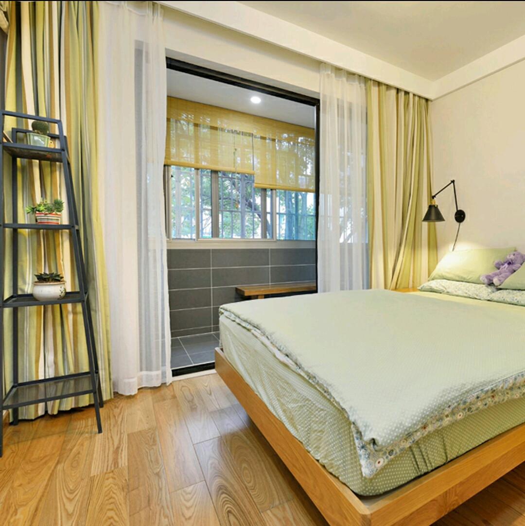 乡村日式三居之家窗帘图片