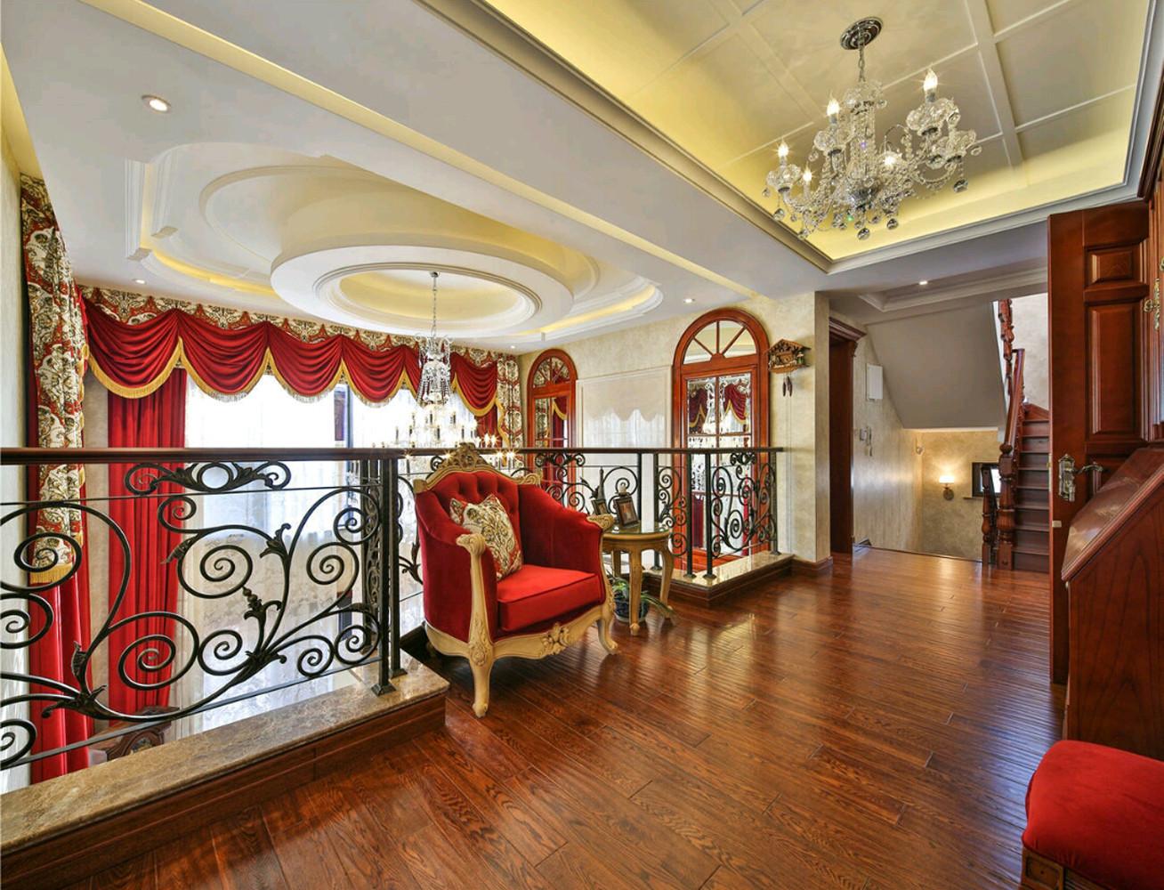 欧式别墅装修楼梯走廊图片