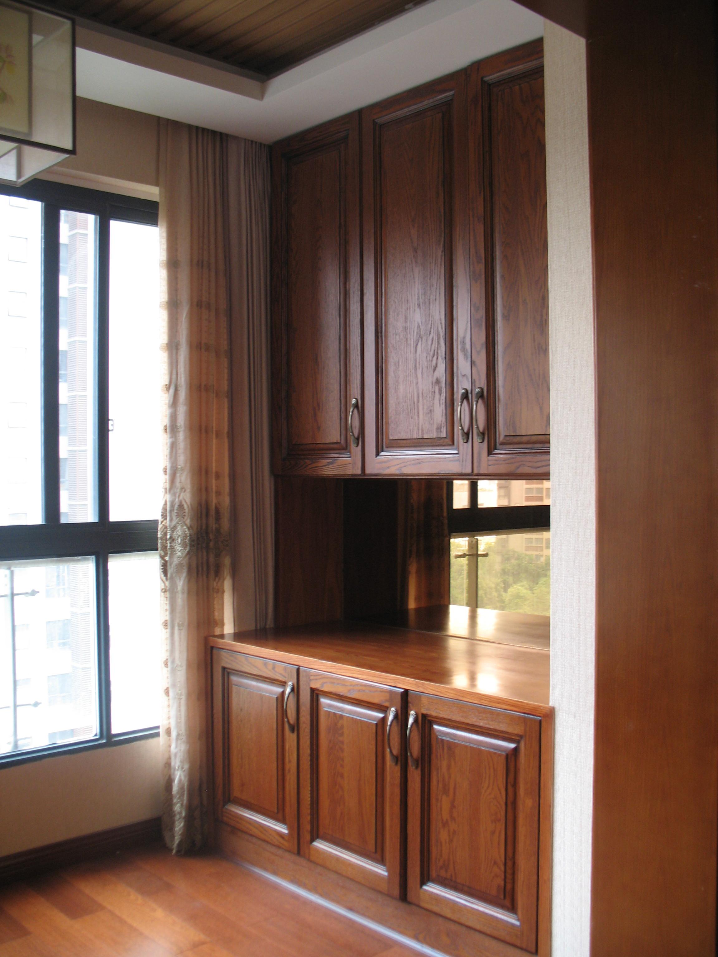 135平中式风格装修阳台储物柜图片