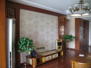 135平中式风格装修电视背景墙图片