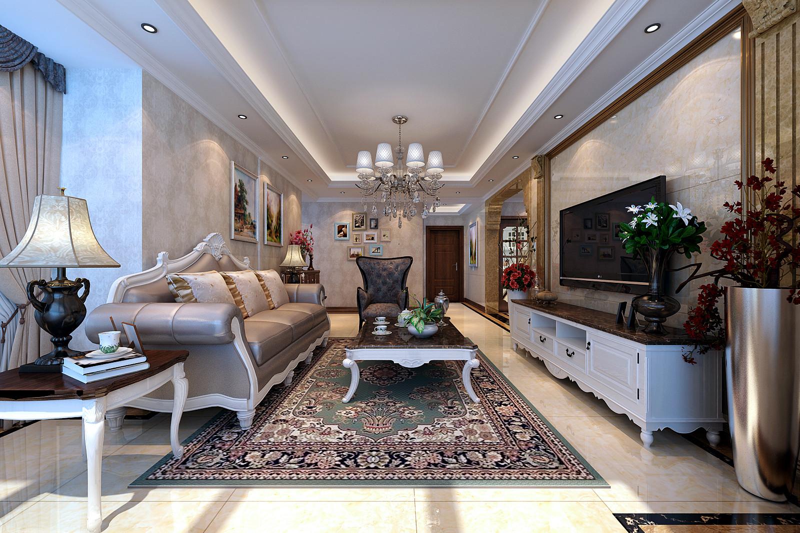 欧式四居装修客厅效果图