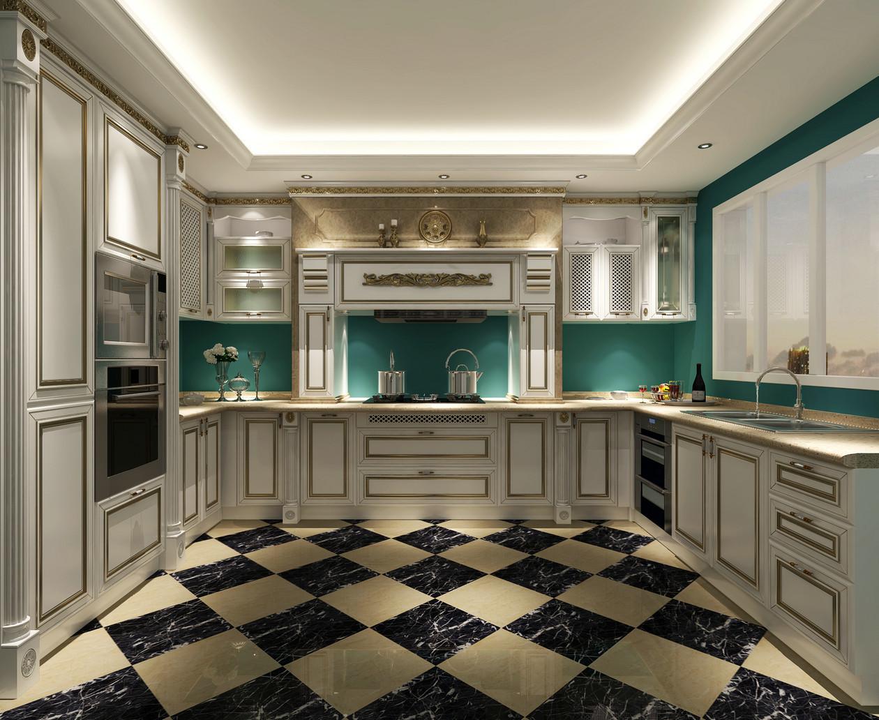 欧式四居装修厨房效果图