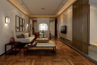 160㎡中式风格家客厅设计图