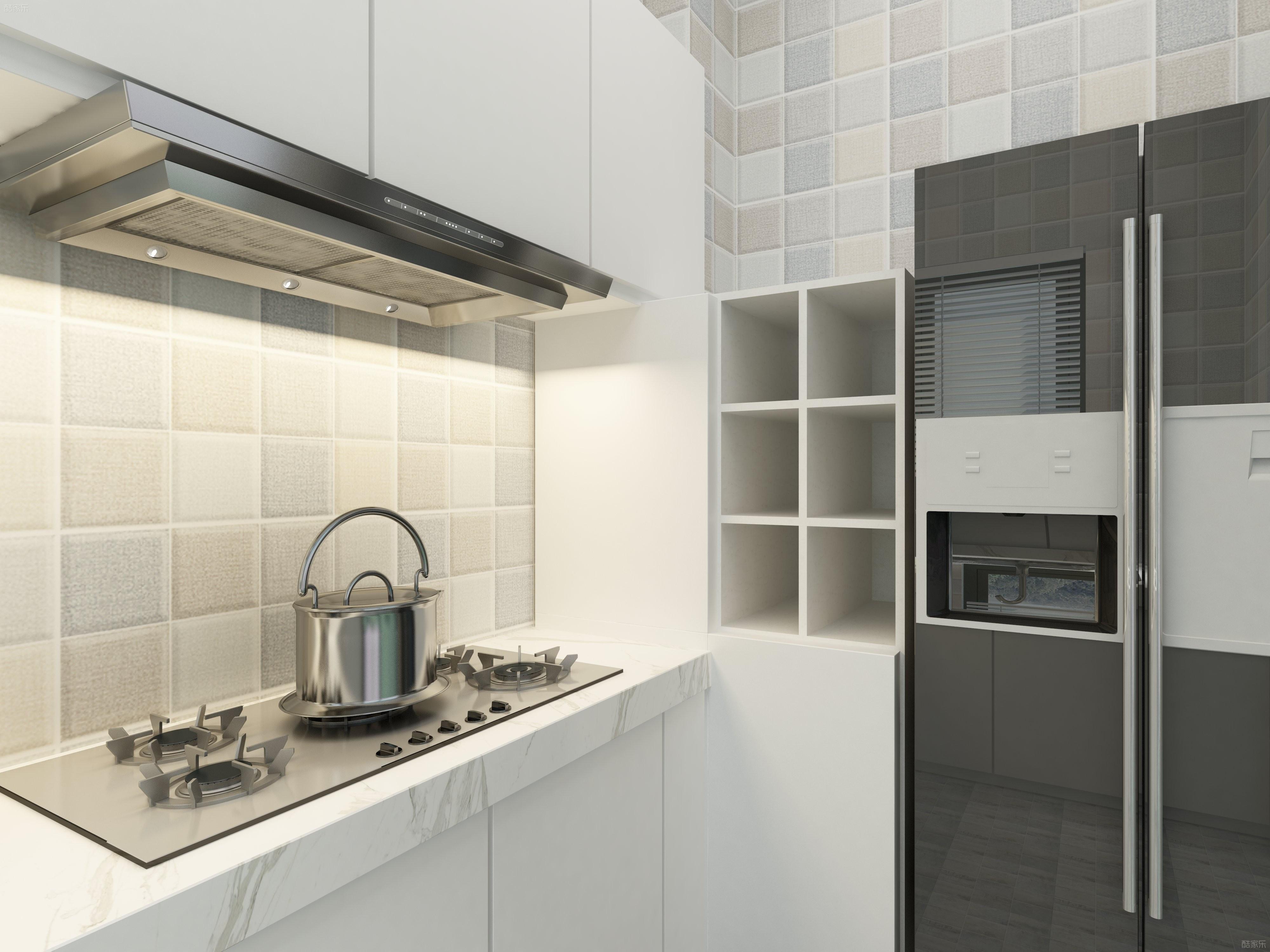 90平三居装修厨房效果图