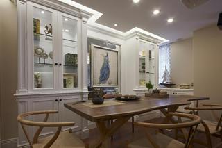 美式三居装修茶室布置图
