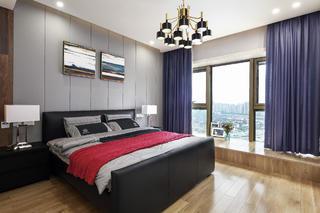 现代简约二居室装修主卧设计图