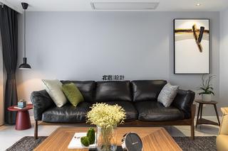 现代简约复式装修沙发背景墙图片