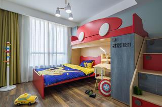 现代简约复式装修儿童房布置图